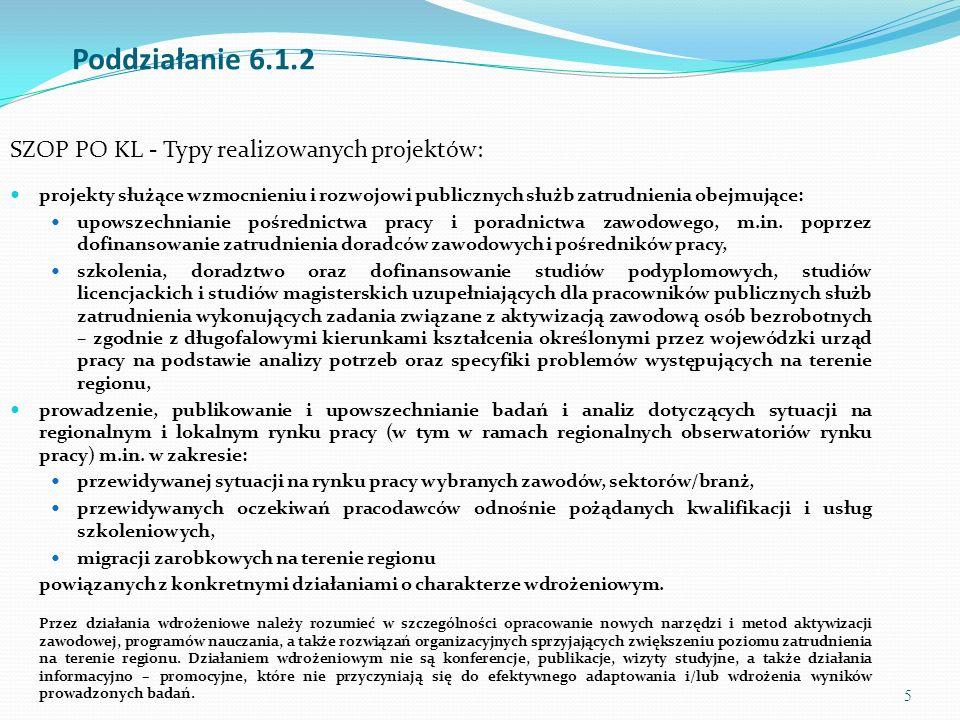 6 Proponowane obszary szkole ń dla kluczowych pracowników PSZ 1.