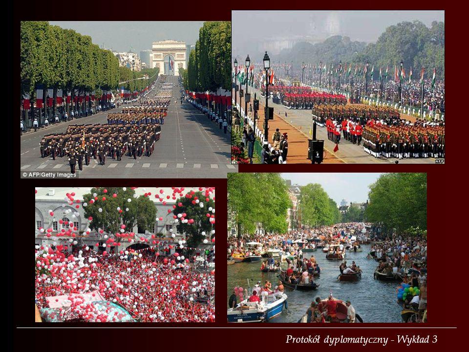 16 lutego – Litwa 17 marca – Irlandia 30 kwietnia – Holandia druga sobota czerwca – Wielka Brytania 24 czerwca – Suwerenny Zakon Kawalerów Maltańskich 4 lipca – Stany Zjednoczone 14 lipca – Francja 15 sierpnia – Indie 3 października – Niemcy 12 października – Hiszpania Oficjalne święta państwowe