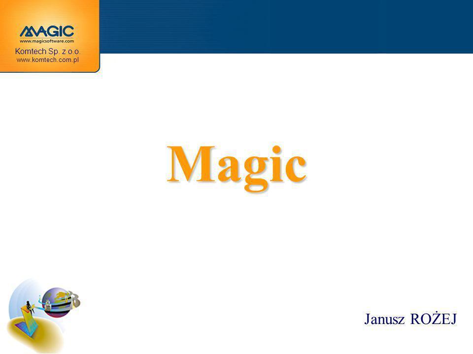 MAGIC –PODSTAWY UŻYTKOWANIA BAZY DANYCH W MAGICU PRZECHOWYWANE SĄ W PLIKACH.