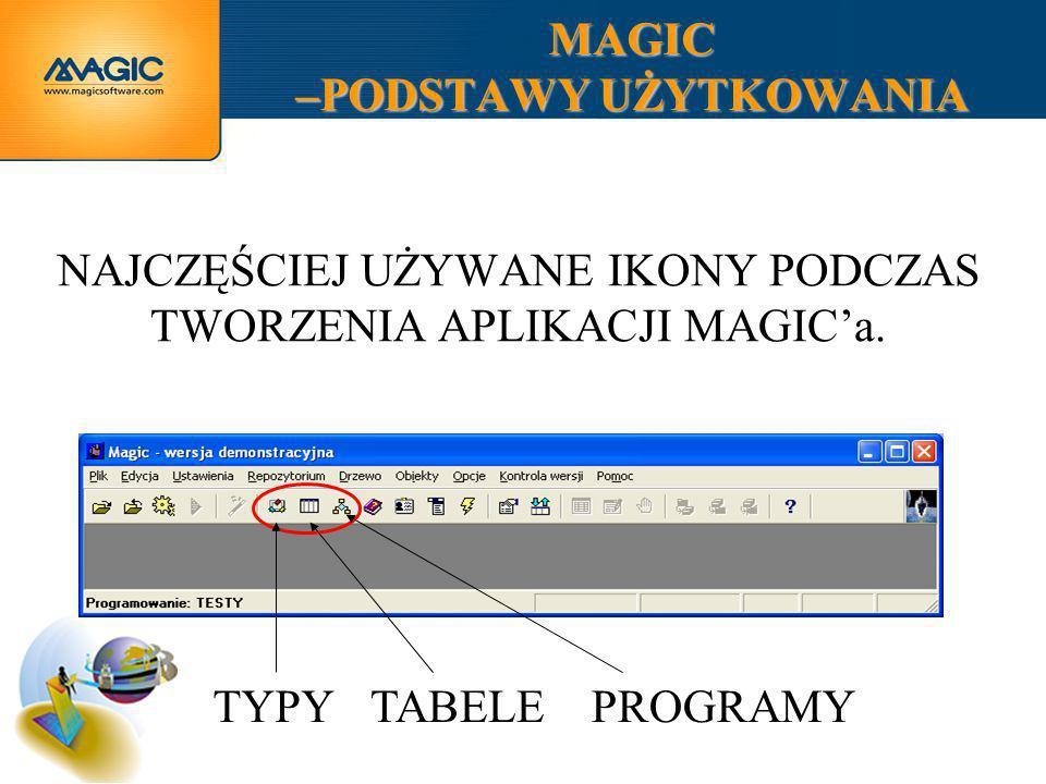 MAGIC –PODSTAWY UŻYTKOWANIA JEŚLI POLECENIE NIE MÓWI INACZEJ, ZAWSZE KORZYSTAMY Z AUTOMATYCZNEGO GENEROWANIA PROGRAMÓW.