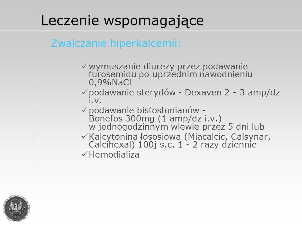 Zmniejszenie hiperproteinemii i objawów nabytej koagulopatii Plazmafereza powtarzana w miarę potrzeby Leczenie wspomagające