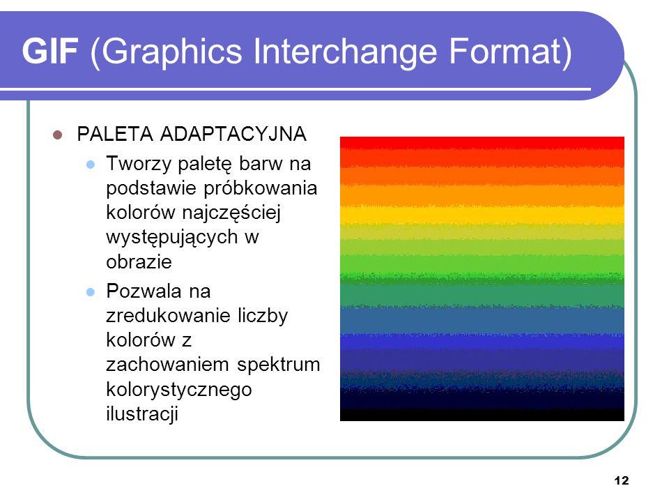 13 GIF (Graphics Interchange Format) ROZTRZĄSANIE (ang.