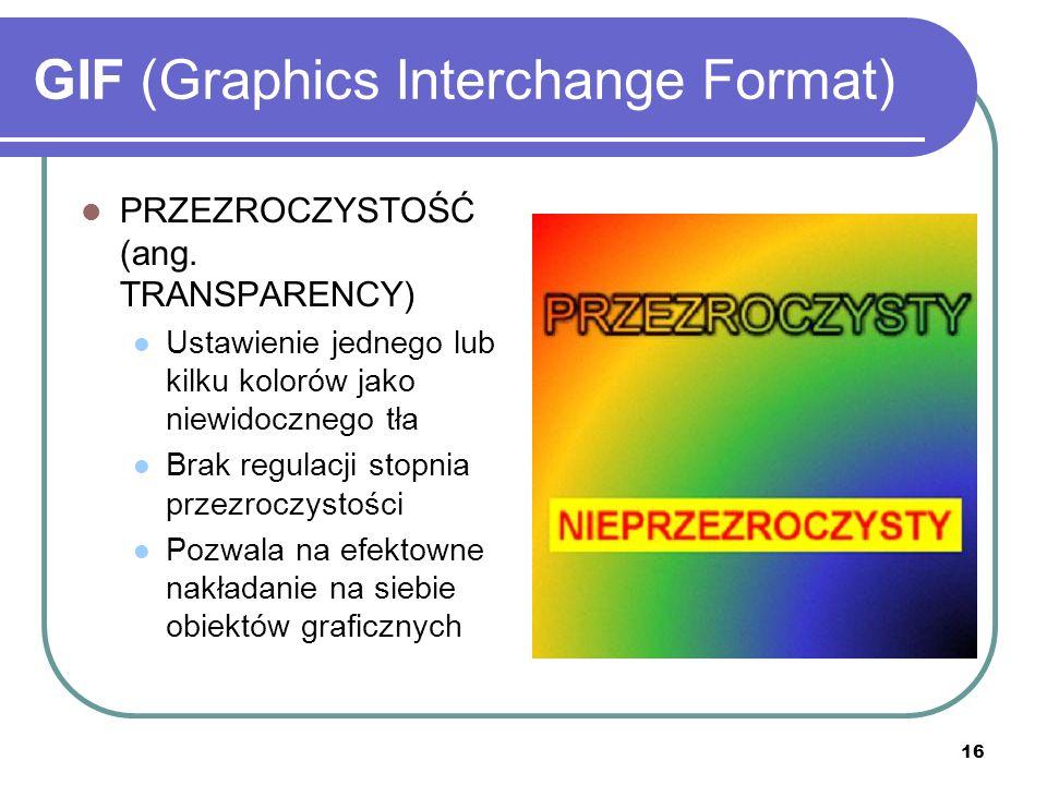 17 GIF (Graphics Interchange Format) PRZEPLOT (ang.
