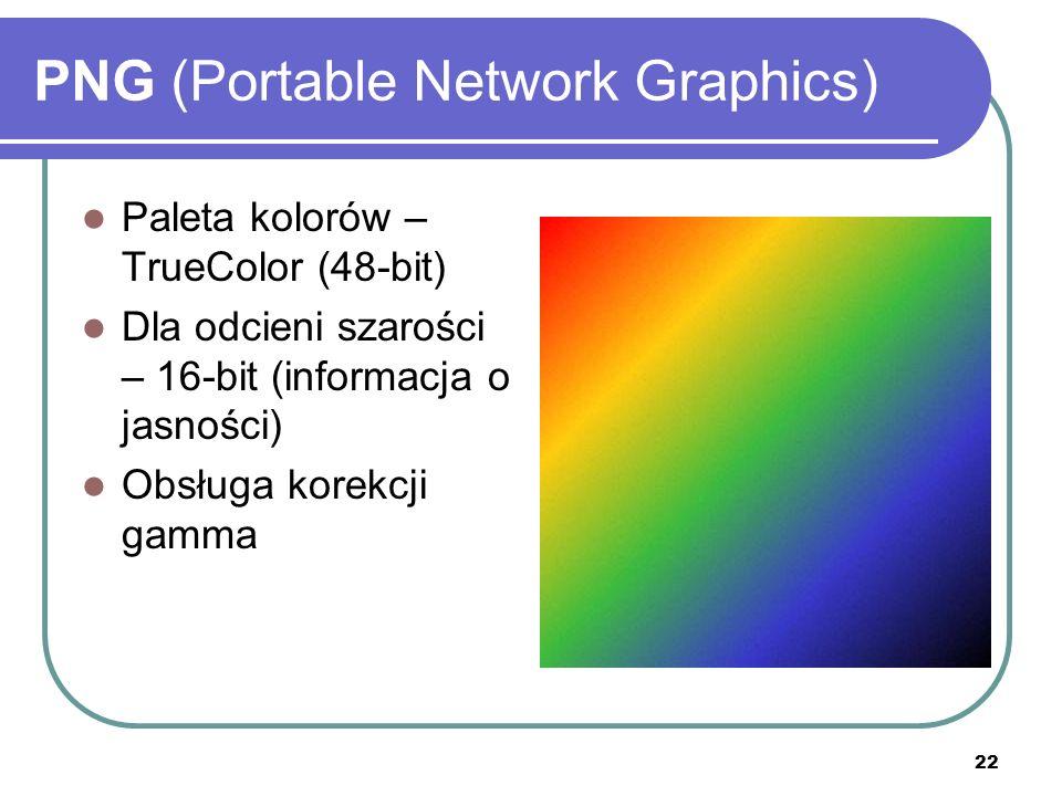 23 PNG (Portable Network Graphics) PRZEZRO- CZYSTOŚĆ (ang.
