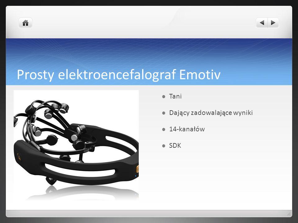 Nasze możliwości Potrafimy pobierać dane z kanałów EEG Potrafimy pisać własne oprogramowanie do obsługi EEG Potrafimy projektować eksperymenty z wykorzystaniem Emotiv Potrafimy obliczać stany kognitywne pacjentów