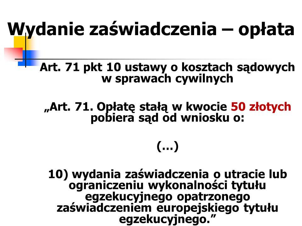 """Zawieszenie lub umorzenie postepowania egzekucyjnego – tytuły """"unijne – k.p.c."""