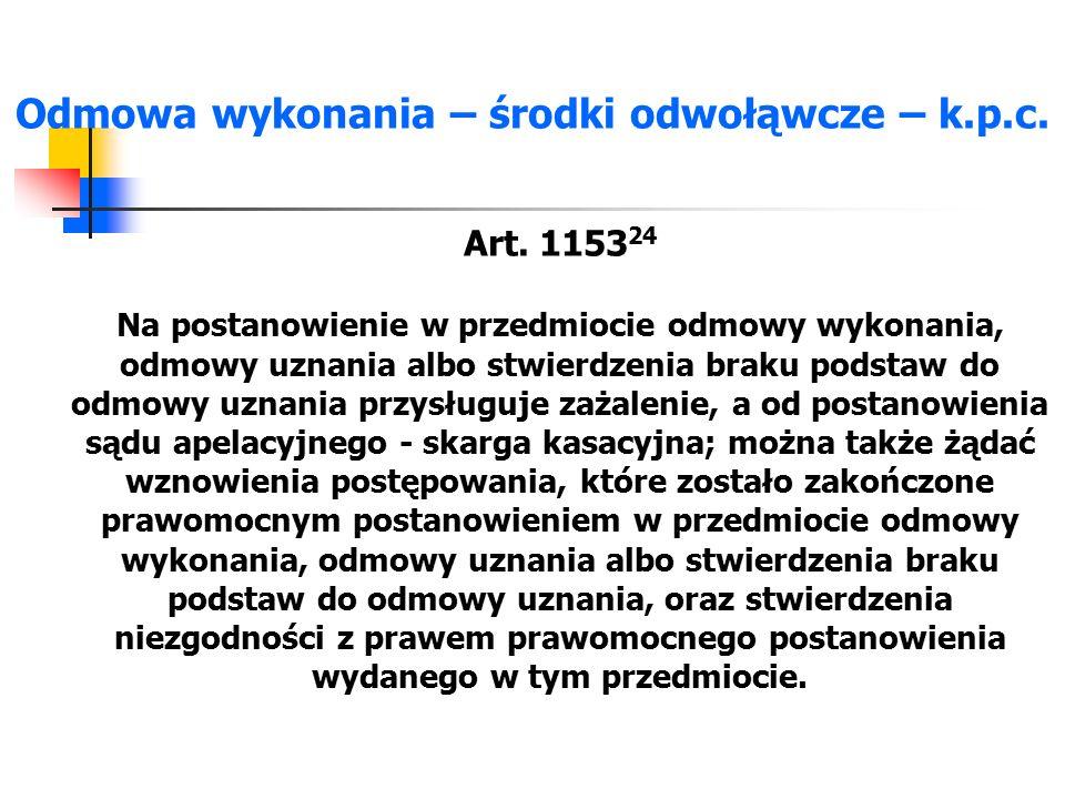 Opłata – ustawa o kosztach sadowych Art.24. 1.