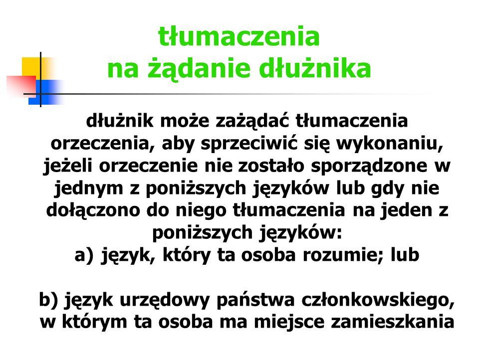 tłumaczenia na żądanie dłużnika UWAGA!!.