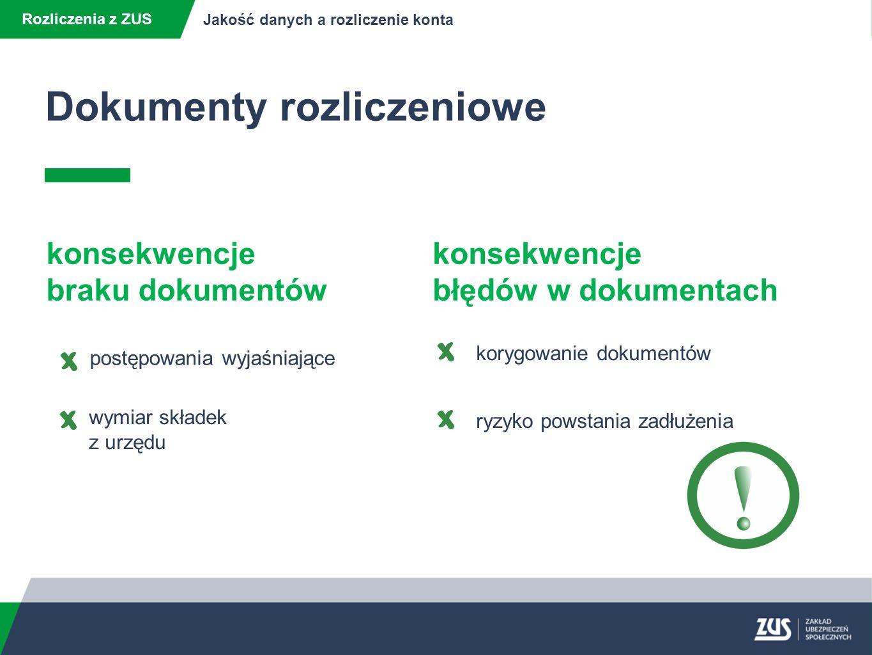 Rozliczenie konta płatnika Rozliczenia z ZUS Jakość danych a rozliczenie konta Rozporządzeniem Rady Ministrów z dnia 18 kwietnia 2008r.