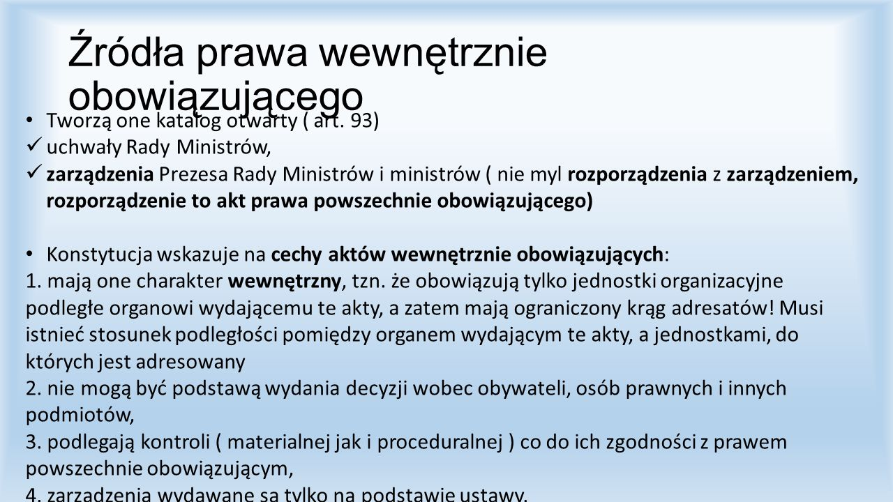 Kontrowersje: 1.Regulaminy obu izb parlamentu (61 ust.4) 2.Układy zbiorowe pracy (SN z dnia 28.5.1998, I PKN 138/98) 3.Tzw.