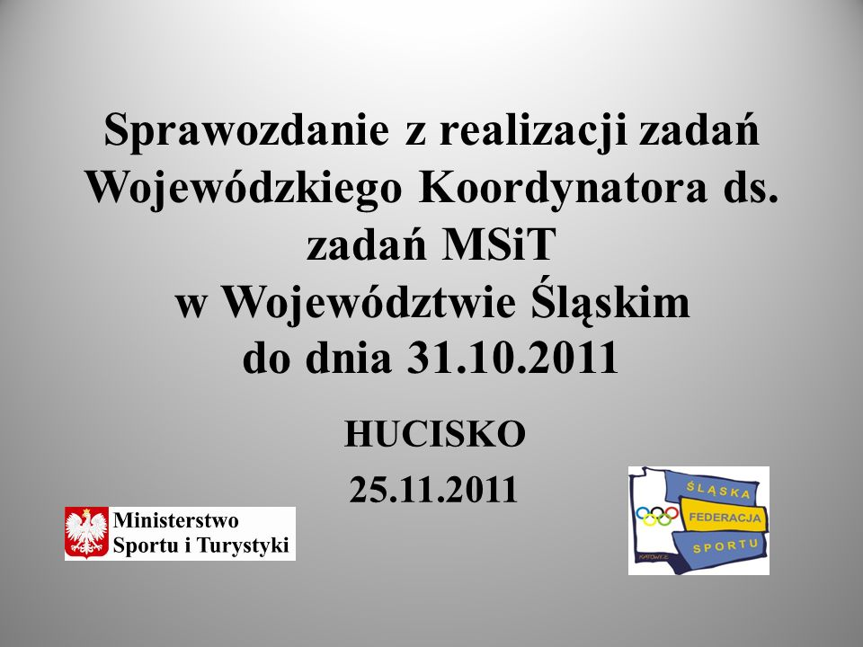 Zadania Wojewódzkiego Koordynatora przede wszystkim odnosiły się do monitorowania organizacji szkolenia wojewódzkiego tj.