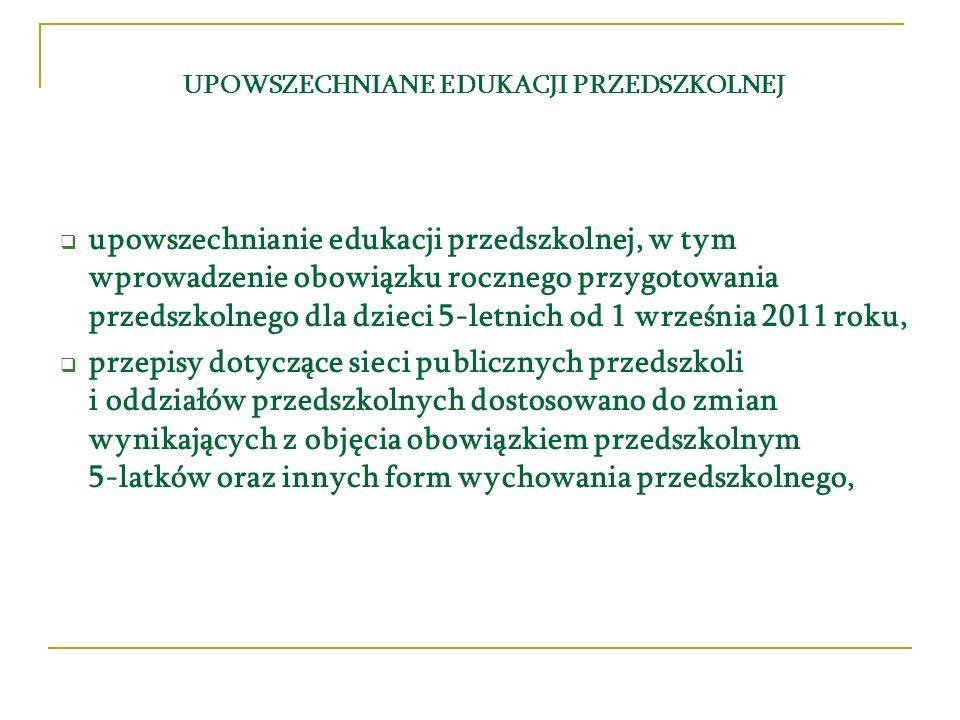 prawo w roku szkolnym 2009/2010 i 2010/2011 dziecko w wieku 5 lat będzie miało prawo do odbycia rocznego przygotowania przedszkolnego w: – przedszkolu – oddziale przedszkolnym w szkole podstawowej – innej formie wychowania przedszkolnego obowiązek w roku szkolnym 2011/2012 dziecko w wieku 5 lat będzie miało obowiązek odbycia rocznego przygotowania przedszkolnego w: – przedszkolu – oddziale przedszkolnym w szkole podstawowej – innej formie wychowania przedszkolnego Dziecko pięcioletnie