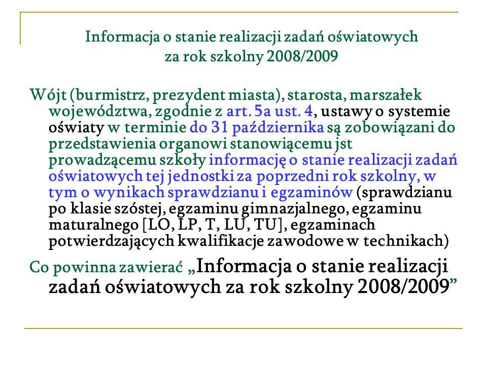 Informacja o stanie realizacji zadań oświatowych za rok szkolny 2008/2009 1.Sieć przedszkoli i innych form wychowania przedszkolnego.