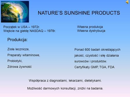 Michał Olszewski - Nature's Sunshine Products.