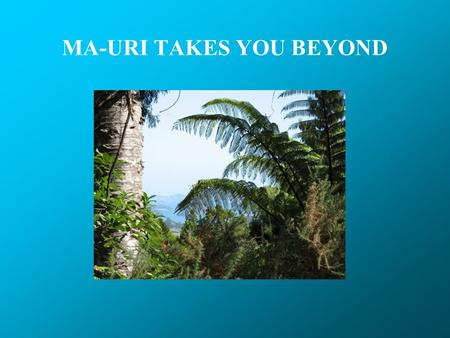 MA-URI TAKES YOU BEYOND