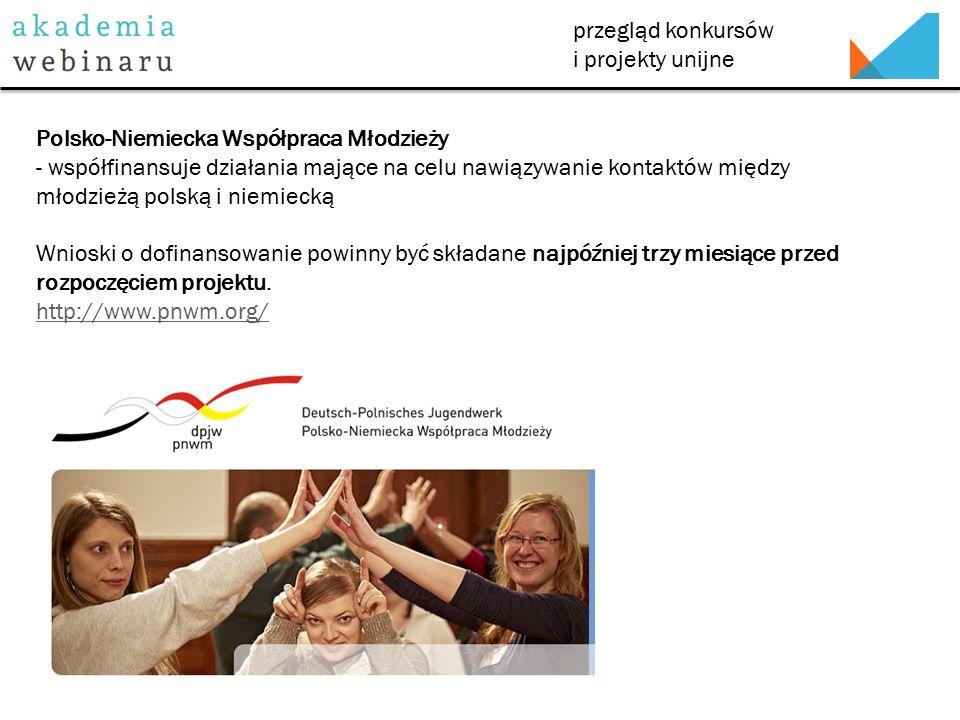 przegląd konkursów i projekty unijne Fundacja Konrada Adenauera w Polsce - dotacje na działalność w zakresie edukacji politycznej (szczególnie organizację konferencji, seminariów poświęconych tematom integracji Polski z Unią Europejską, transformacji gospodarczej, reform samorządów terytorialnych, stosunków polsko-niemieckich).