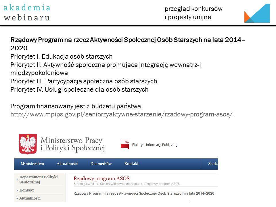 przegląd konkursów i projekty unijne Zarząd Województwa Wlkp.