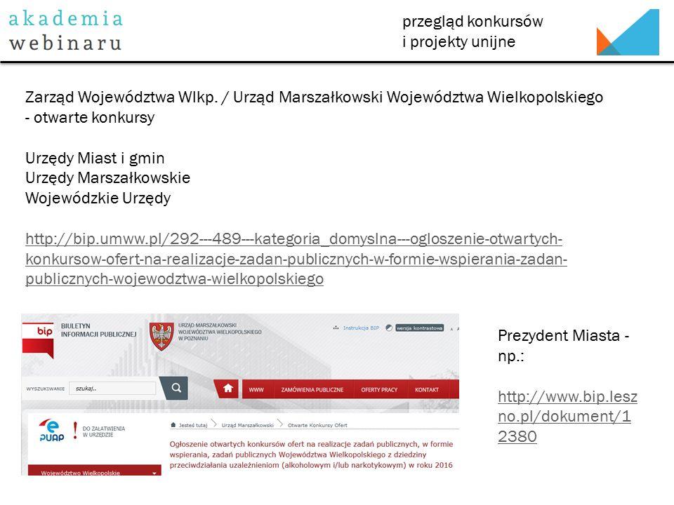 przegląd konkursów i projekty unijne http://rownacszanse.pl/