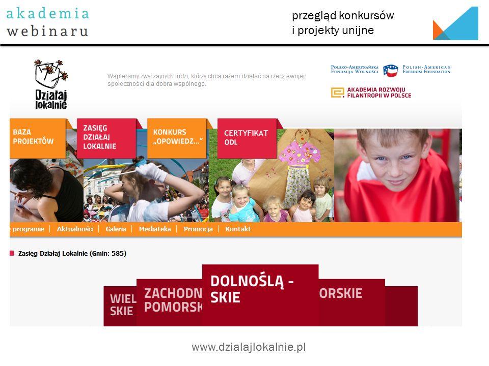 przegląd konkursów i projekty unijne http://www.funduszeeuropejskie.gov.pl/