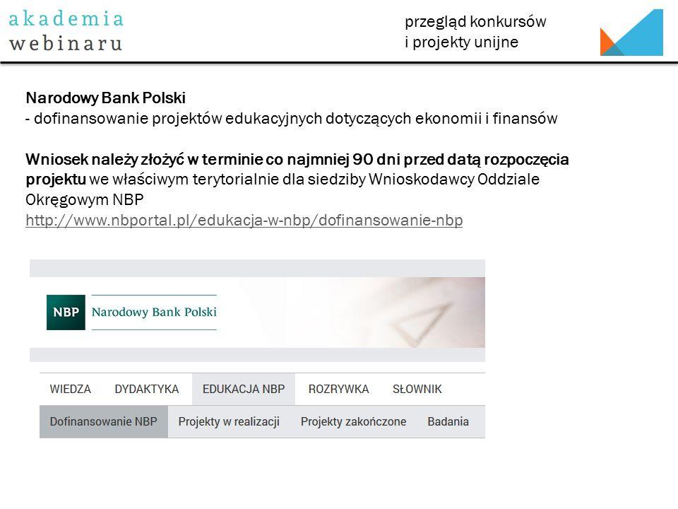 przegląd konkursów i projekty unijne Fundacja im.dr.