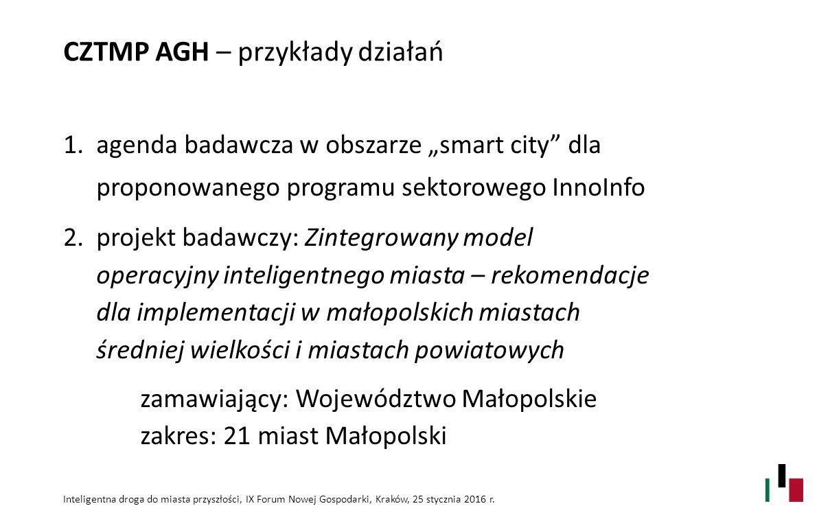 Inteligentna droga do miasta przyszłości, IX Forum Nowej Gospodarki, Kraków, 25 stycznia 2016 r.