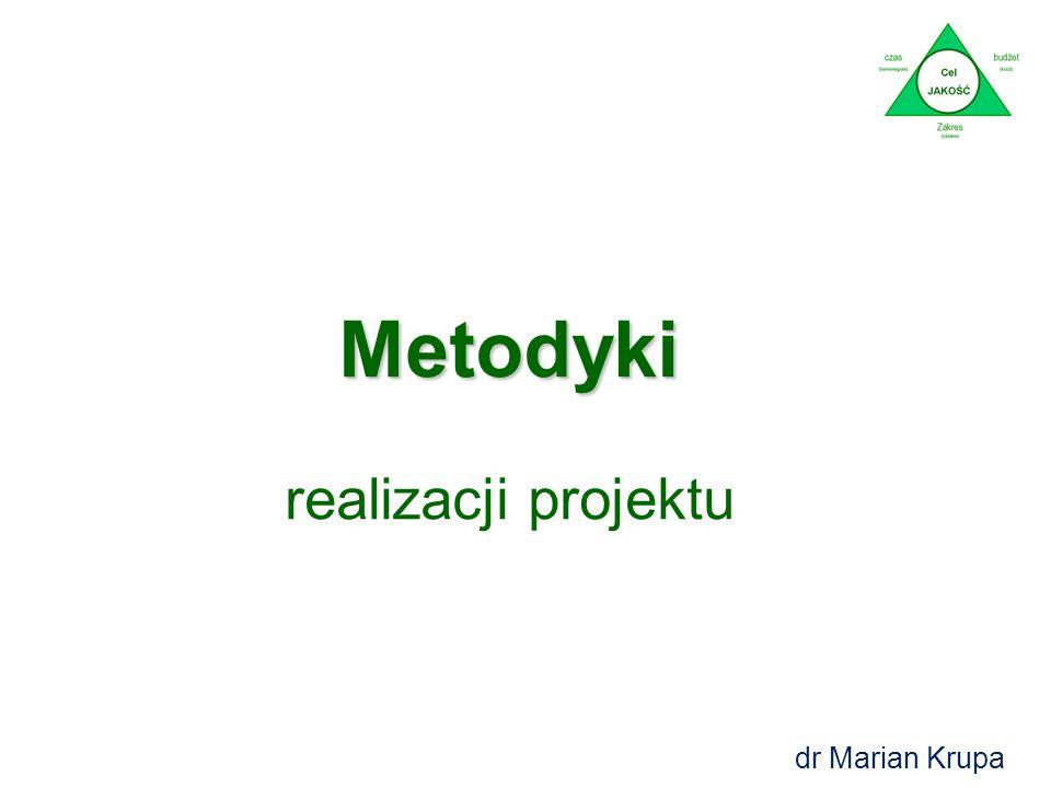 Metodyki realizacji projektu dr Marian Krupa