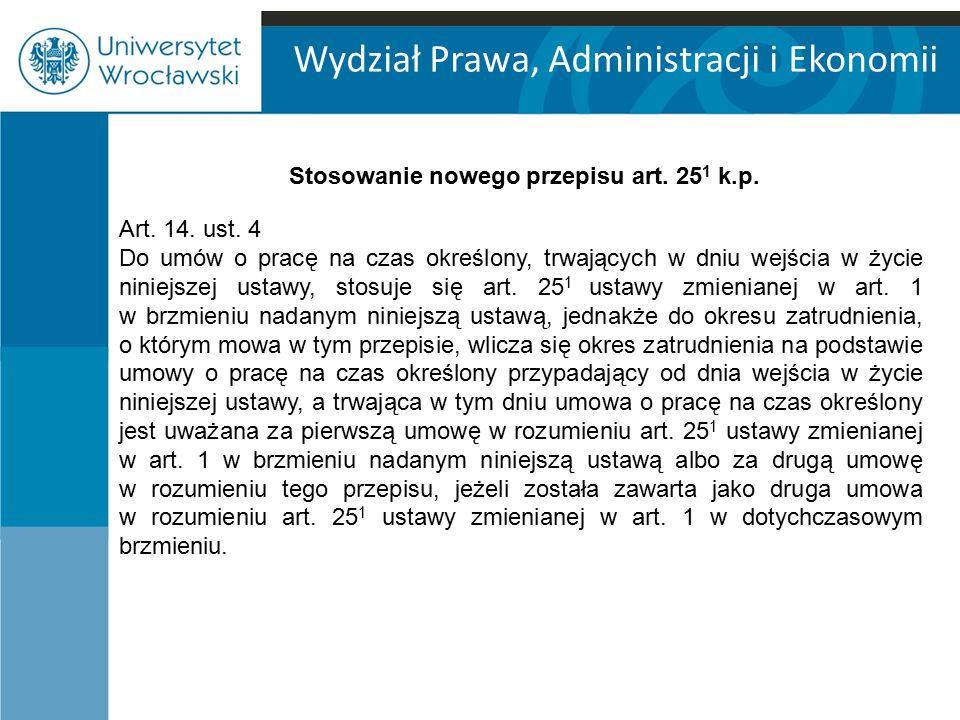 Stosowanie nowego przepisu art. 251 k.p.