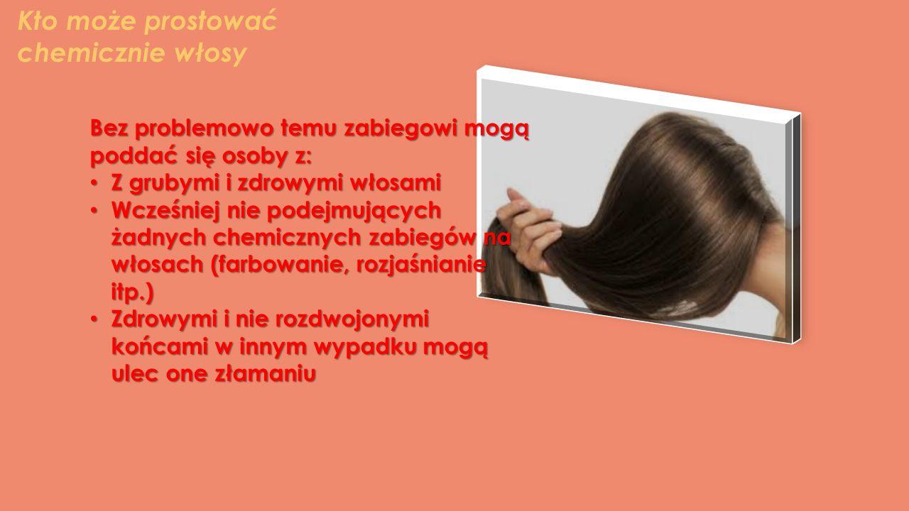 Kto może prostować chemicznie włosy