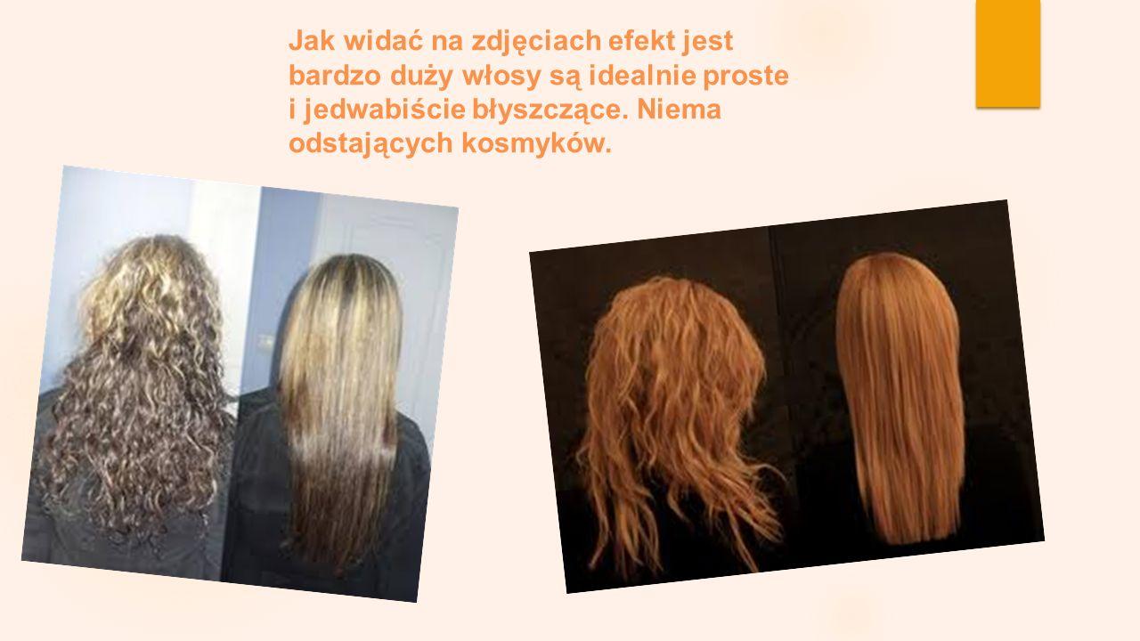 Jak widać na zdjęciach efekt jest bardzo duży włosy są idealnie proste i jedwabiście błyszczące.