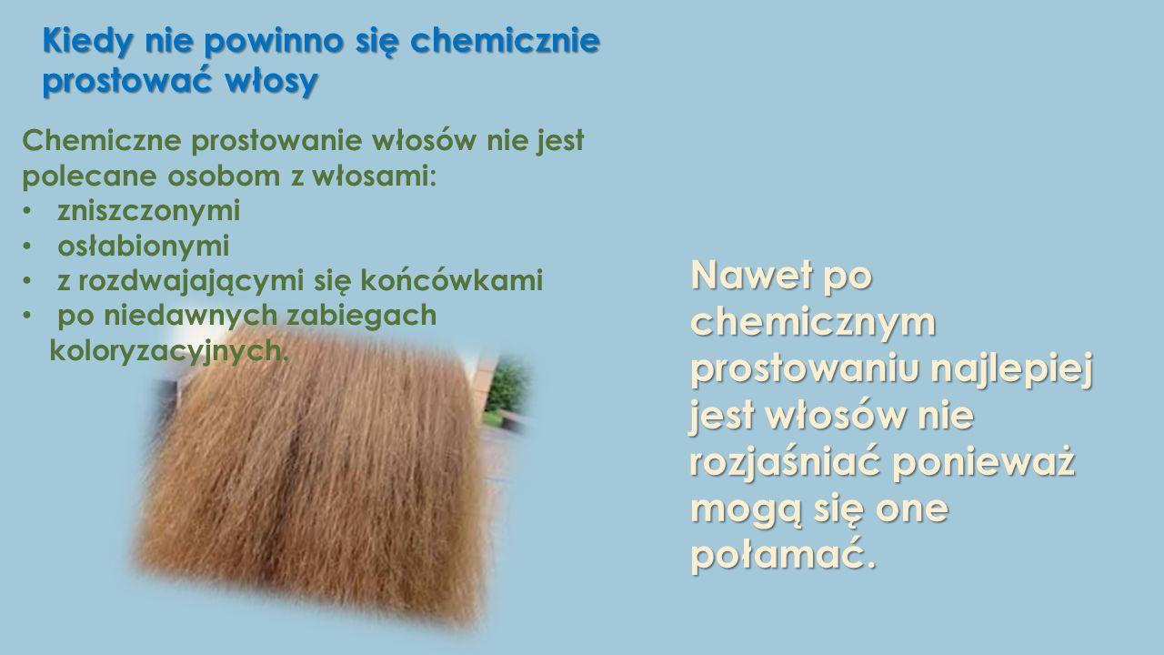 Kiedy nie powinno się chemicznie prostować włosy