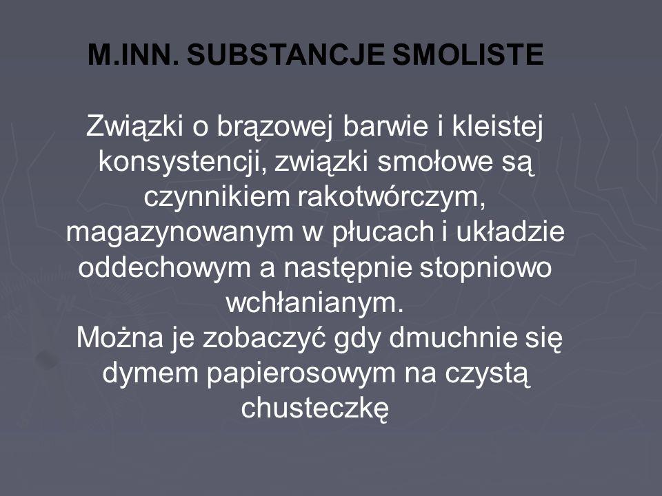 M.INN. SUBSTANCJE SMOLISTE