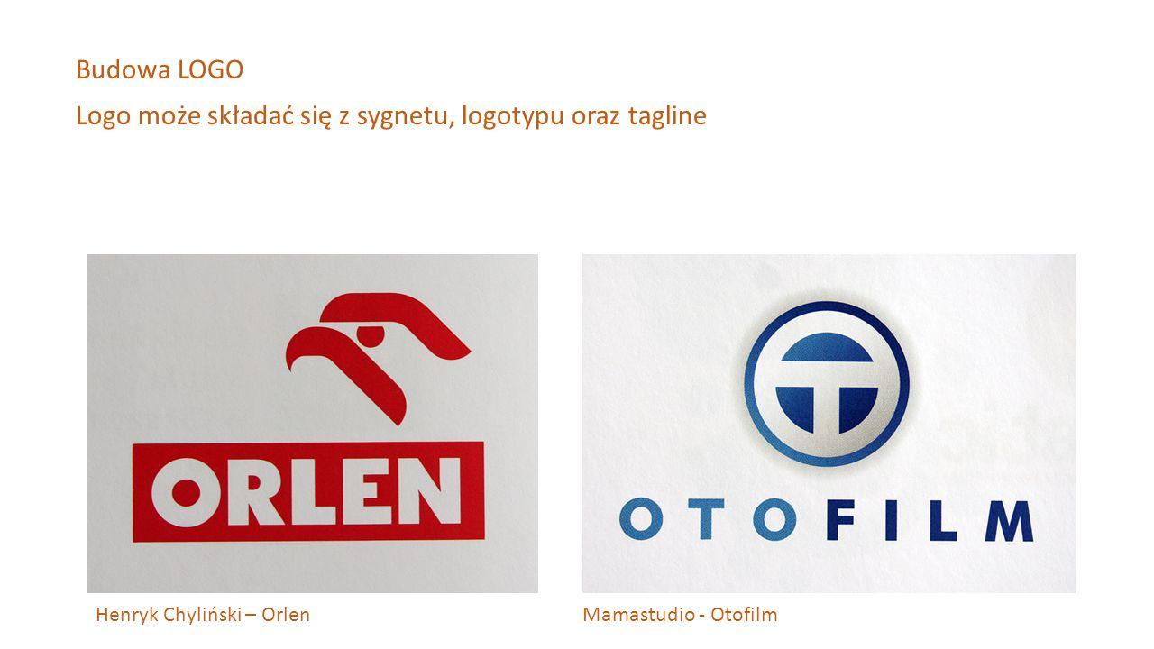 Logo może składać się z sygnetu, logotypu oraz tagline