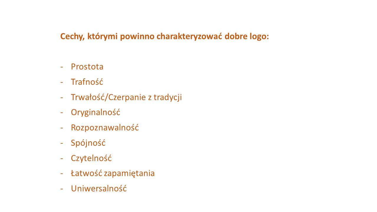 Cechy, którymi powinno charakteryzować dobre logo: