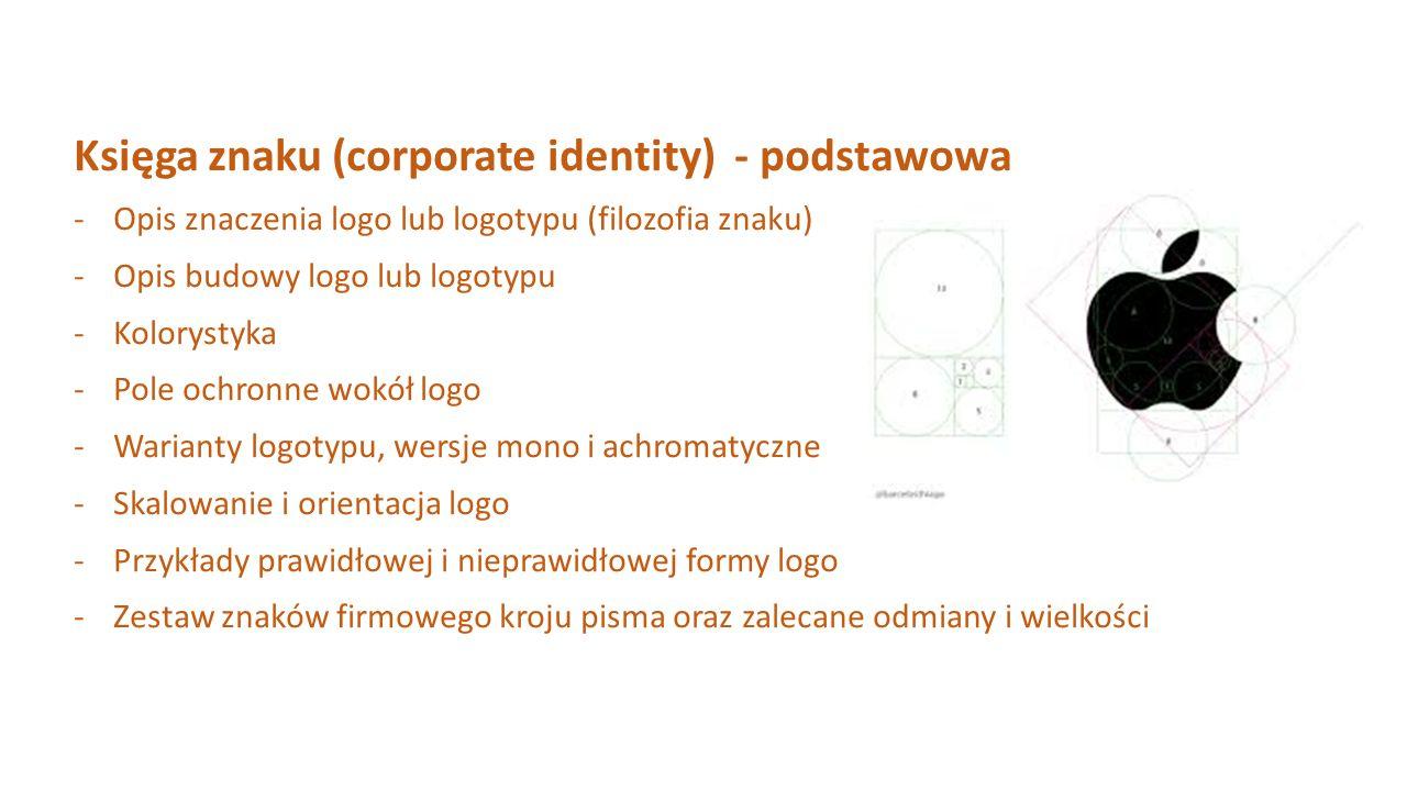 Księga znaku (corporate identity) - podstawowa