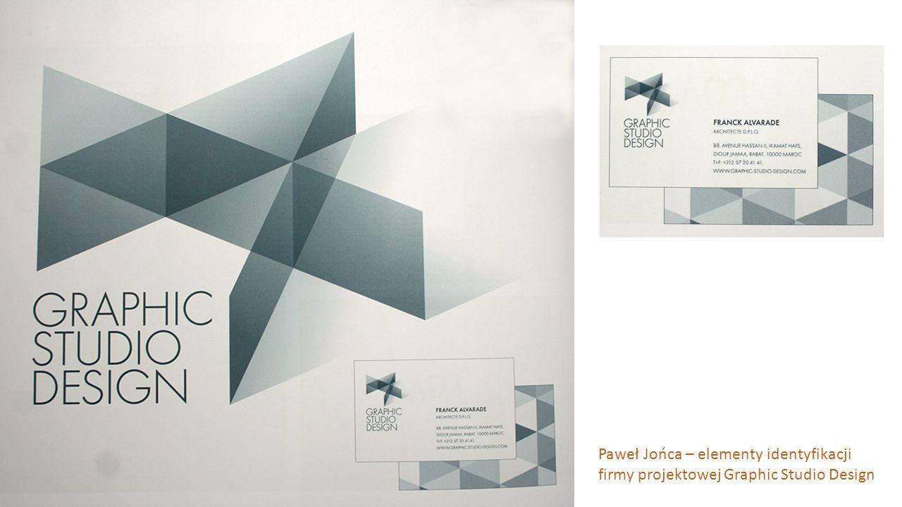 Paweł Jońca – elementy identyfikacji firmy projektowej Graphic Studio Design
