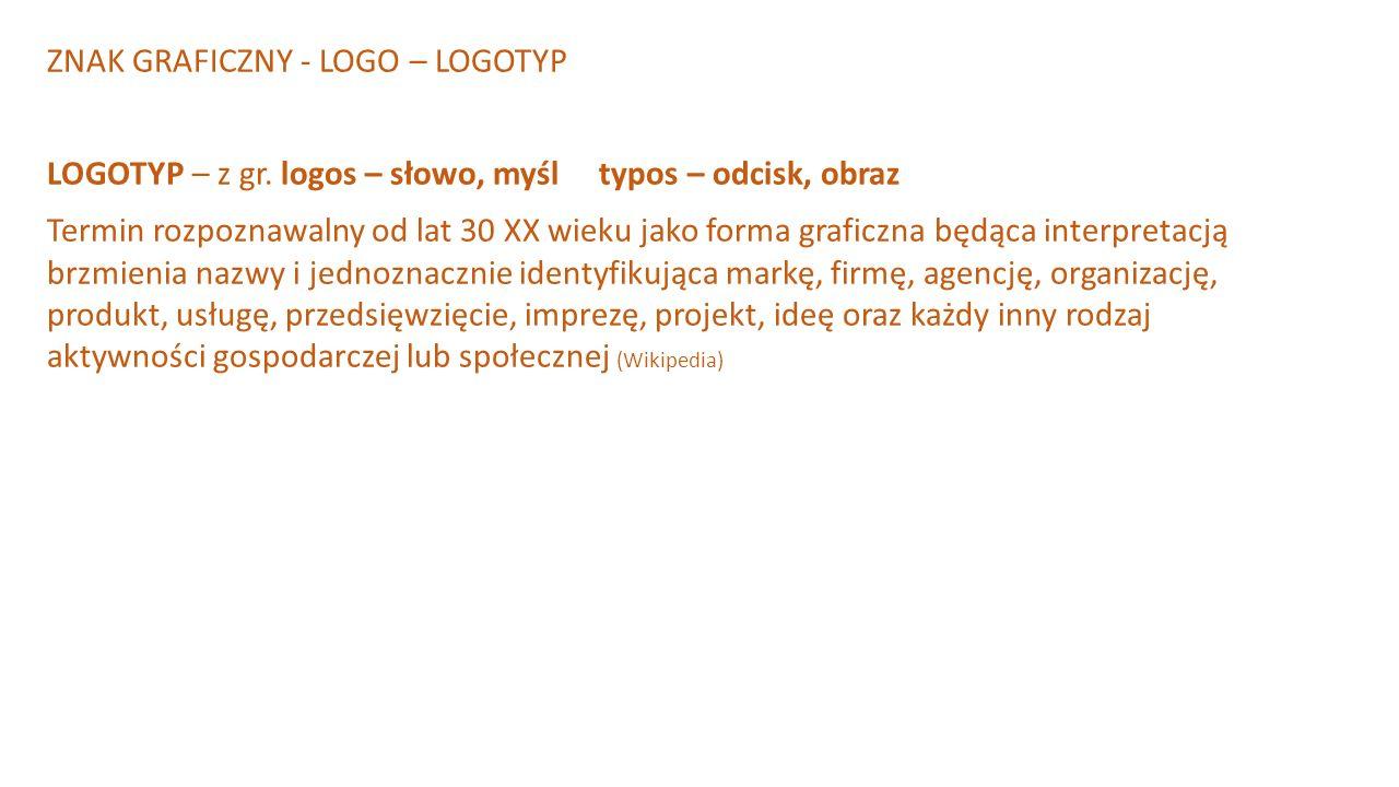 ZNAK GRAFICZNY - LOGO – LOGOTYP