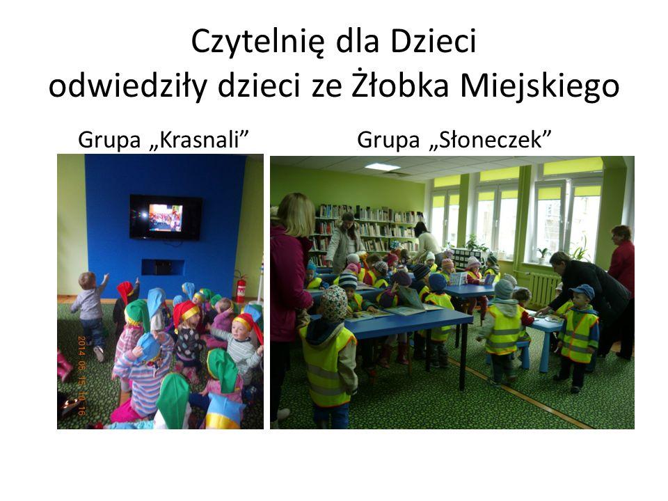Czytelnię dla Dzieci odwiedziły dzieci ze Żłobka Miejskiego