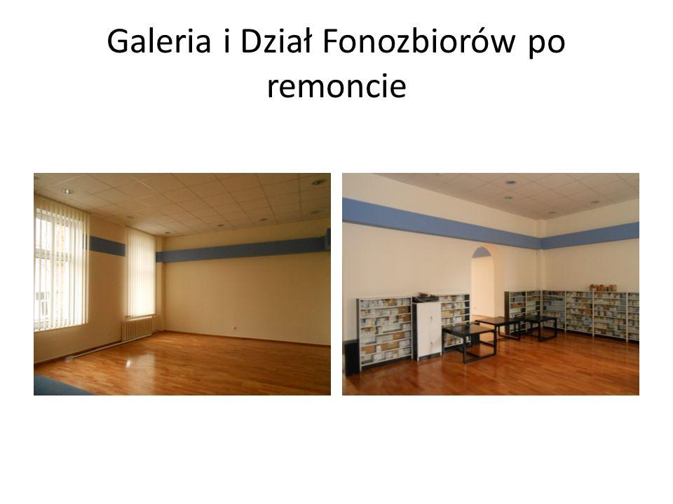 Galeria i Dział Fonozbiorów po remoncie