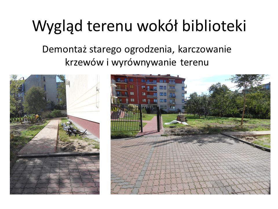 Wygląd terenu wokół biblioteki
