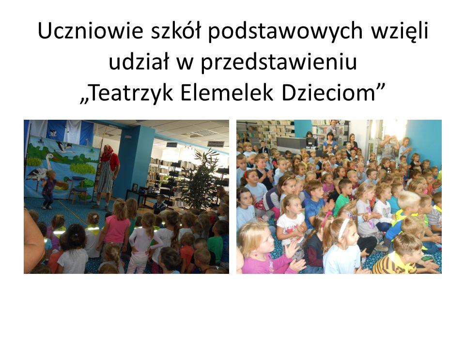 """Uczniowie szkół podstawowych wzięli udział w przedstawieniu """"Teatrzyk Elemelek Dzieciom"""
