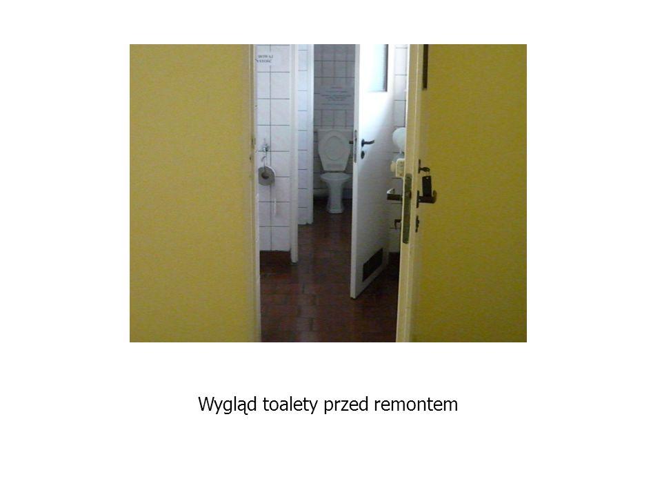 Wygląd toalety przed remontem