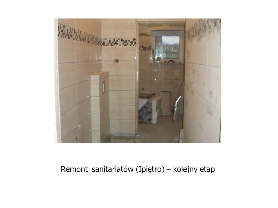Remont sanitariatów (Ipiętro) – kolejny etap
