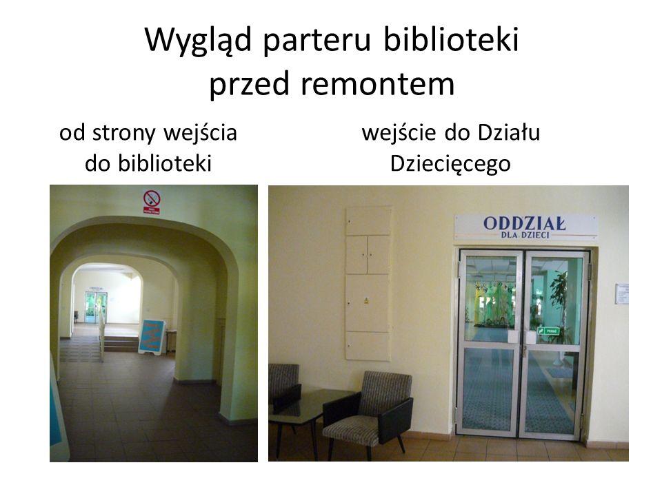 Wygląd parteru biblioteki przed remontem