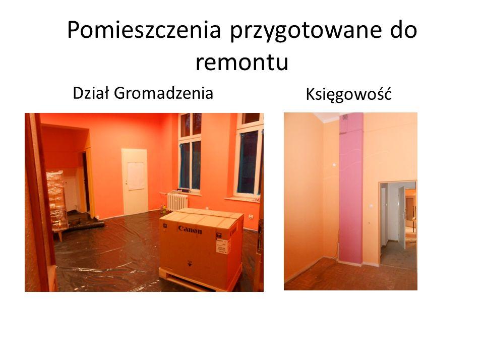 Pomieszczenia przygotowane do remontu