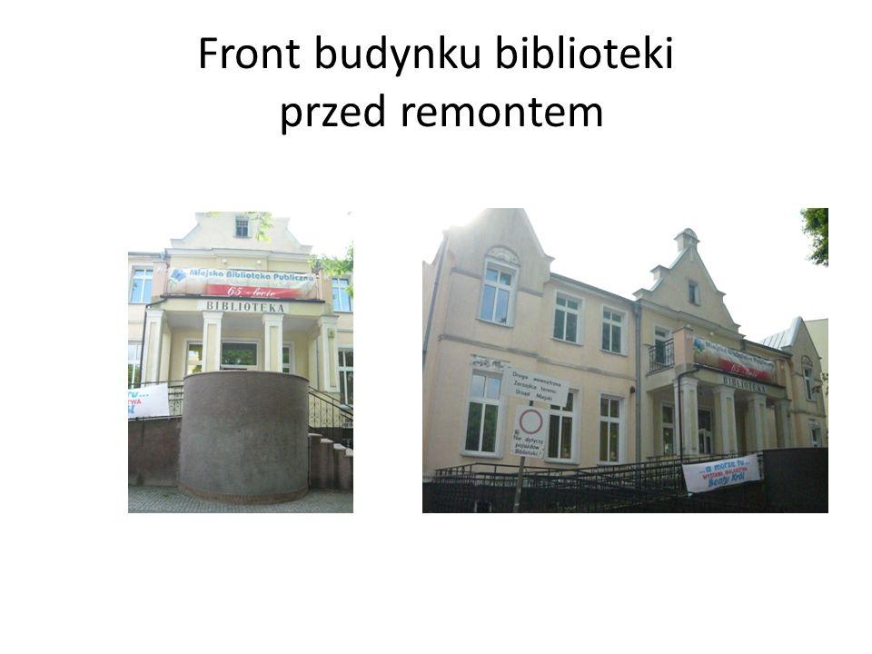 Front budynku biblioteki przed remontem