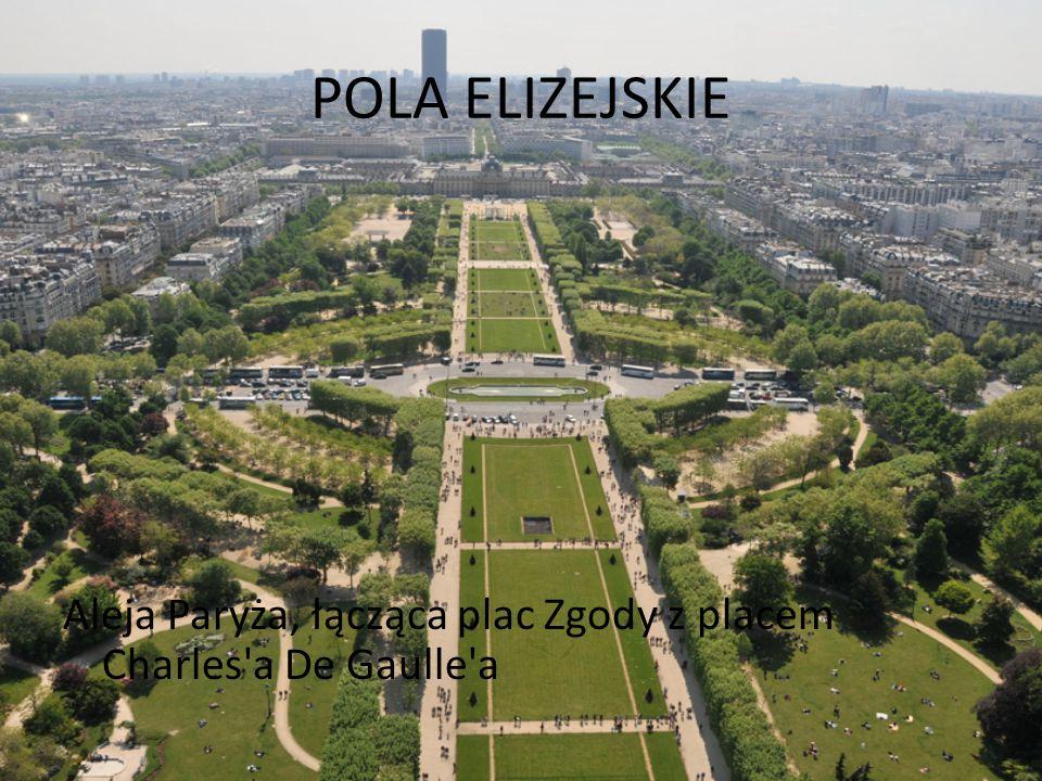 POLA ELIZEJSKIE Aleja Paryża, łącząca plac Zgody z placem Charles a De Gaulle a