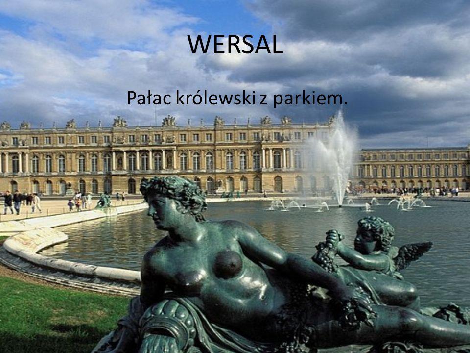 Pałac królewski z parkiem.