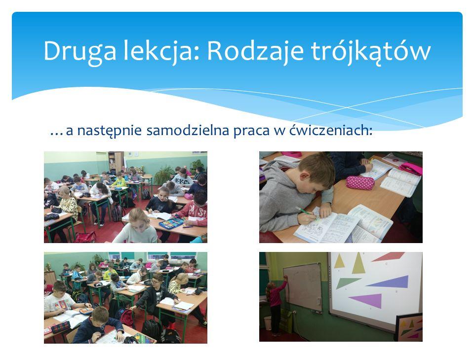 Druga lekcja: Rodzaje trójkątów