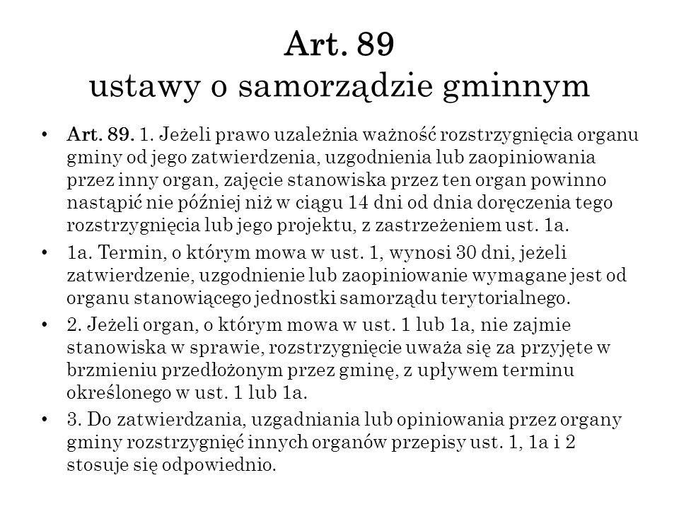 Art. 89 ustawy o samorządzie gminnym