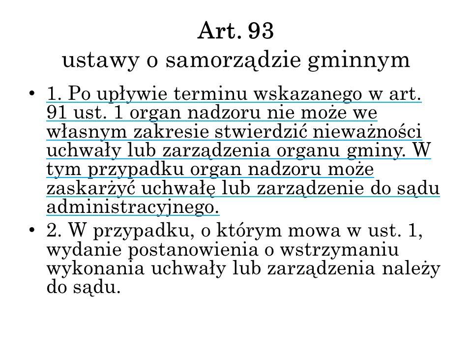 Art. 93 ustawy o samorządzie gminnym